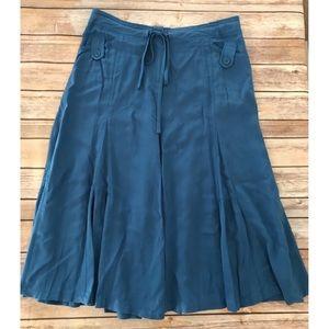 NWT Sunny Leigh garden goddess indigo midi skirt