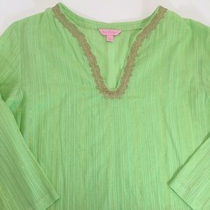 Lilly Pulitzer Embroidered Tunic Cover-up