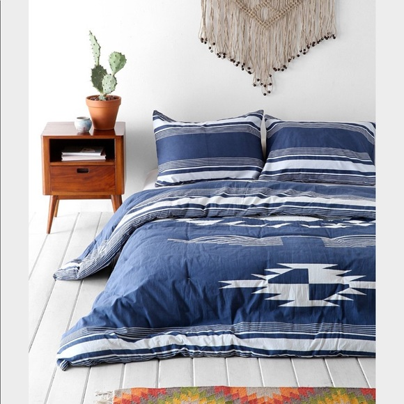 Urban Outfitters Other - 4040Locust Eagle Eye Vintage Indigo Quilt Comfortr
