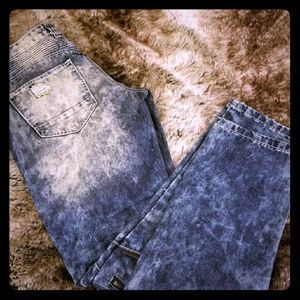 Smoke Rise Men's Rip and Repair zipper Jeans