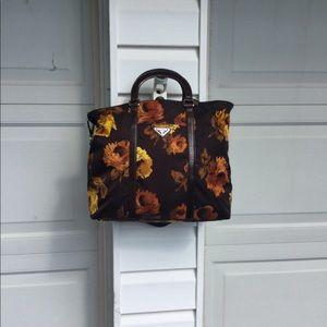 NWOT Prada Brown With Fall Leaves Bag