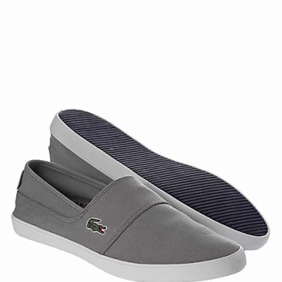 ee1ef0abc84dd New Lacoste Marice LCR Canvas Slip-On Sneakers