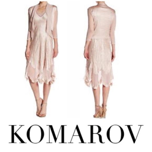 Komarov Dresses New Pink Crinkle Dress Dress Only Large Poshmark
