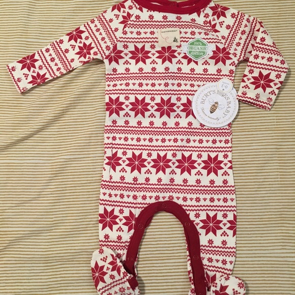Burt s Bees Baby Footie Pajamas 0-3 Months New NWT fba763b38