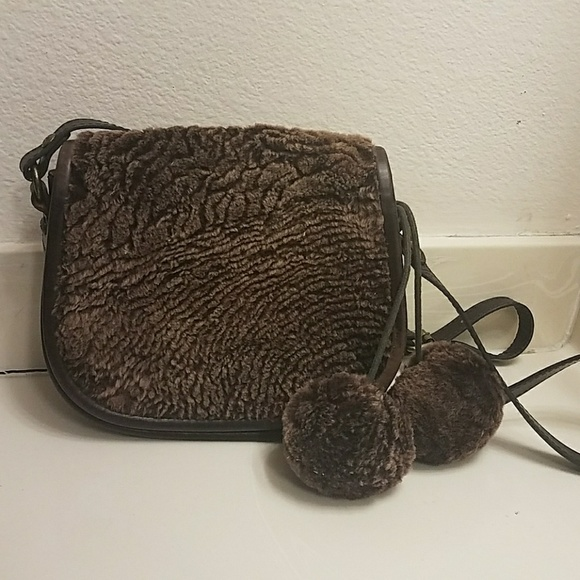 Patricia Nash Handbags - Patricia Nash Laser Cut Sherpa Fur Saddlebag