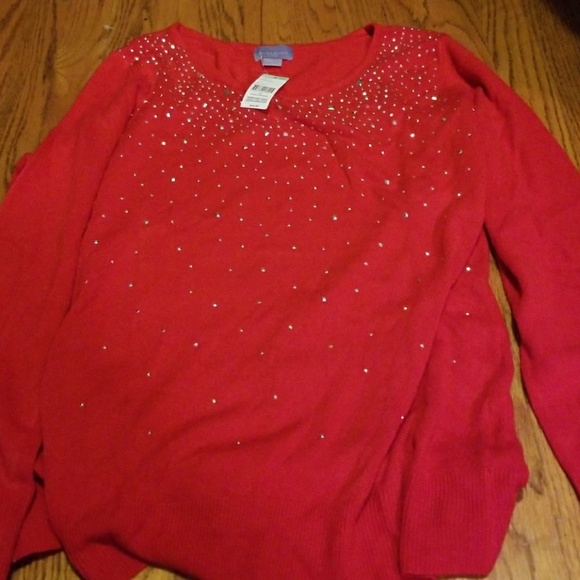 55% off Karen Scott Sweaters - Red Dressy Sweater from Amber's ...