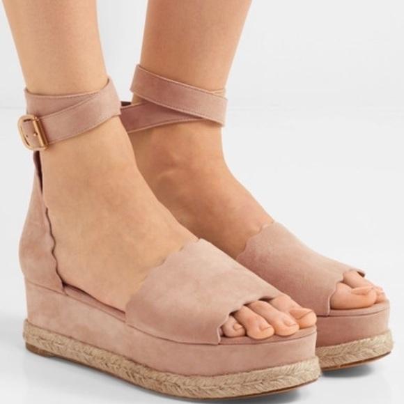 cc14f0b20703f Chloe Shoes - Chloe Lauren scalloped espadrilles size 37