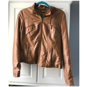 ❌SOLD❌ Joujou M brown leather jacket