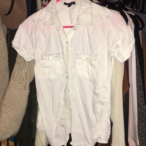 Tops - White Short Sleeve Button Down Sz. S