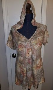 Maternity top (size large) with hood accent