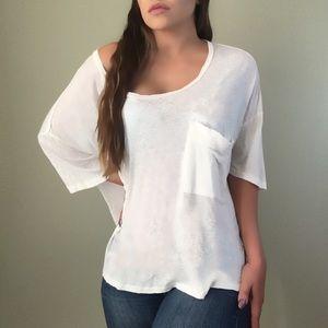 Slum Sunday Oversized Luxe Pocket Tee Shirt Top