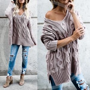 TRENTON Knit Sweater - MUAVE