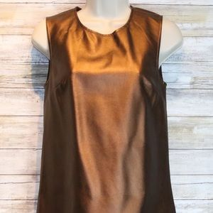 Tinley Road bronze faux leather top sz XS