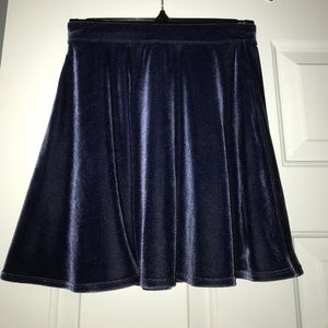 Blue Velvet Skater Skirt