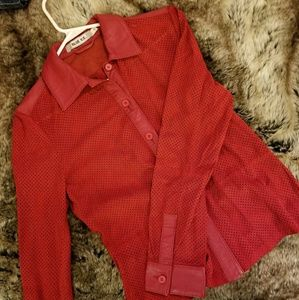 Red Ice Couture Leather Jacket
