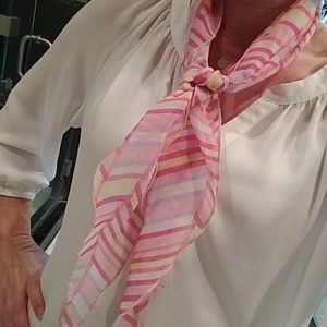 Accessories - Pink stripe scarf - shorter length