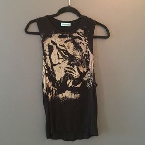 Punk tiger muscle tank