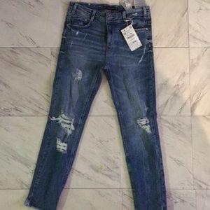 SOLD!!!!! Zara Women Distress Jeans