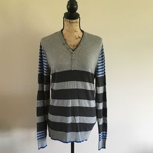 EUC Striped Gray Sweater