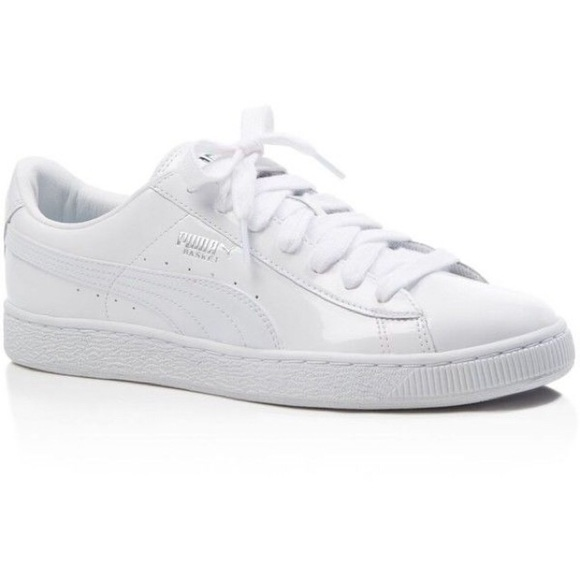 efe4094f31c NWT Puma Basketball Patent White Lace Up Sneakers
