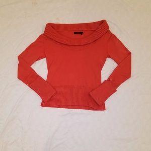 BCBG Maxazria fall orange boat neck sweater Medium
