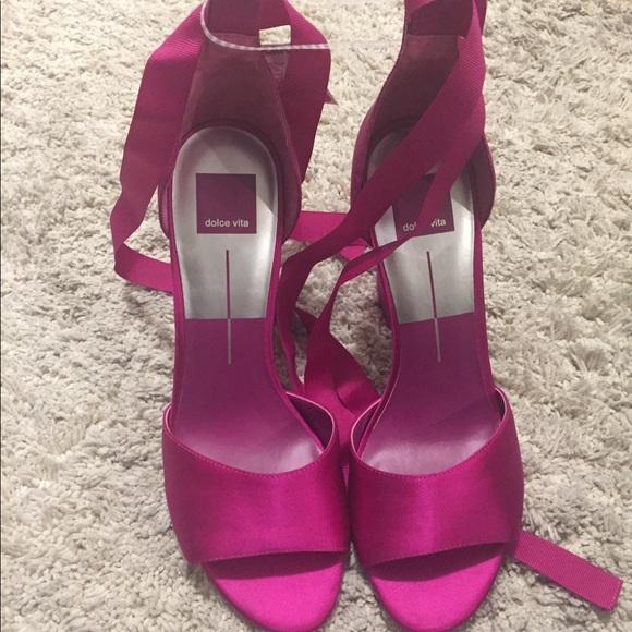 a489400cc2 Shoes   Dolce Vita Harvey Block Heel Sandals Fuchsia   Poshmark