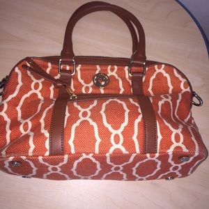 Spartina 449 linen purse rust colored satchel