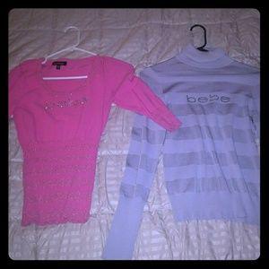 Bebe sweater shirts