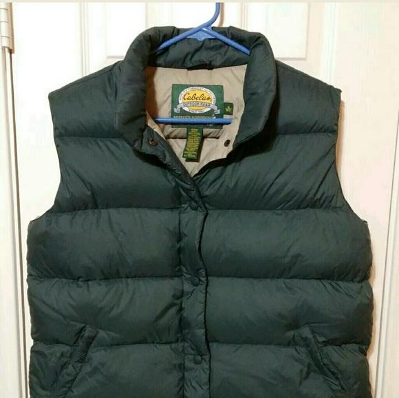 9823c012b7ac3 Cabela's Jackets & Blazers - Womens M Cabela's Premier Goose Down Vest Green