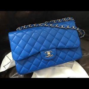 CHANEL Bags - Chanel Lambskin classic jumbo flap 0298f5c52ae92