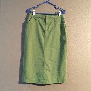 😉SALE😉 Green Christopher And Banks Size 6 Skirt