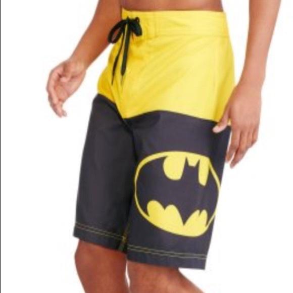 09e1504bfa Batman Swim | Mens Half Elastic Waist Short Nwt | Poshmark