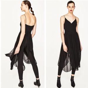 Zara Ballerina DRESS with Tulle SKIRT AND LEGGINGS
