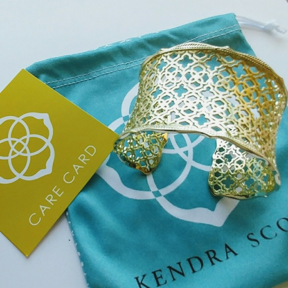 112c4d0df6c4c Kendra Scott Candice Cuff Gold Filigree