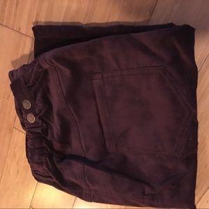 Purple maternity skirt