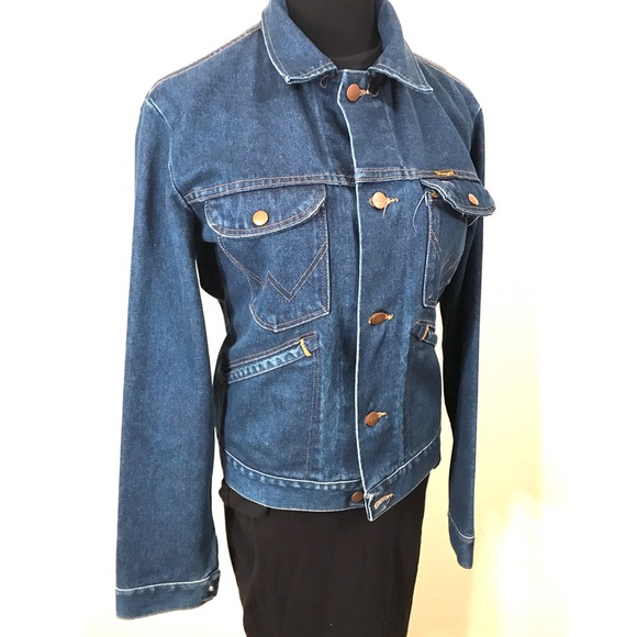Vintage Jackets & Coats - Vintage Denim Wrangler Jacket