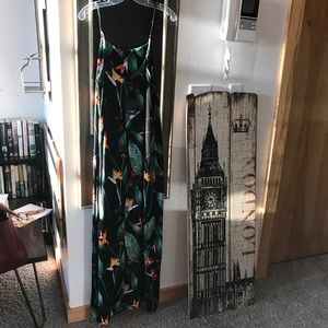 Dalia tropical print maxi dress