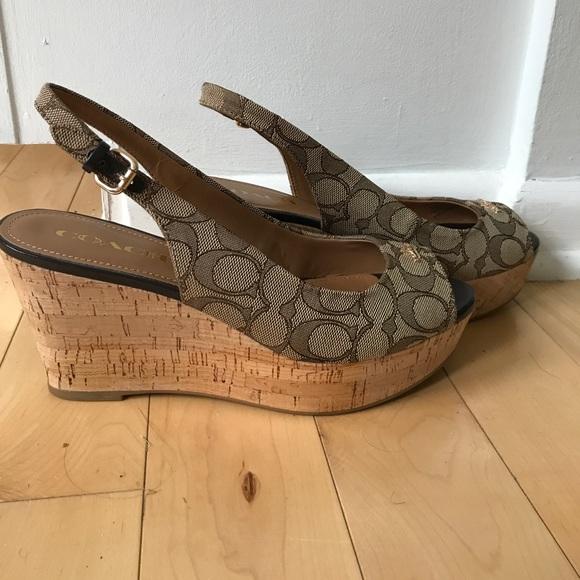b5d0c0370fb Coach Shoes - Coach Ferry Cork Wedges 8.5 EUC