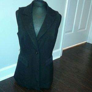EUC INC black 1 button vest