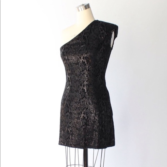 475697f0b69 Halston Heritage Dresses | Sequin One Shoulder Mini Dress | Poshmark