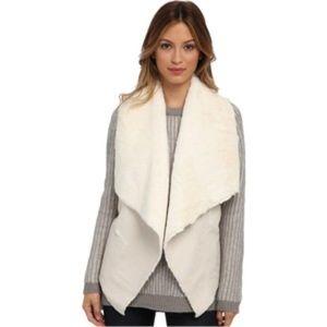 BlankNYC Ivory Faux Shearling Vest