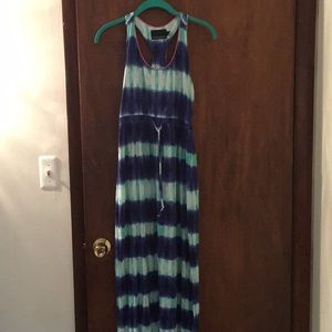 Racerback tie dyed maxi dress