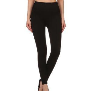 Pants - Black fur lined leggings