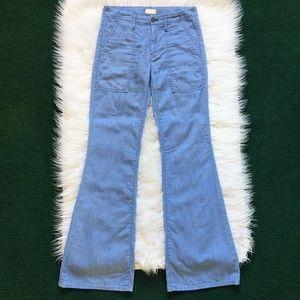 MOTHER Patch Pocket Flare Jeans Light Wash 26