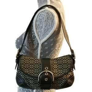 COACH signature C mini soho bag foldover flap