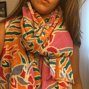 Juicy Couture Oversized Tropical Print Scarf