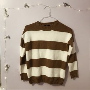 brown forever 21 striped sweater on Poshmark