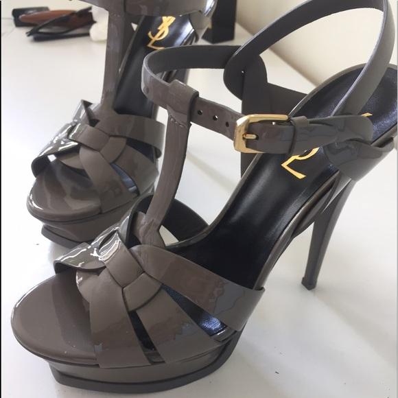 d58b9d6c8c87 YSL Tribute Patent Platform Sandal. M 59b415a67f0a0556c9000ef1