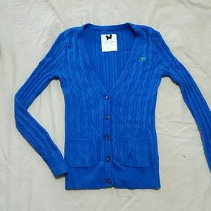 Gilly Hicks 5-Button Vivid Blue Cardigan