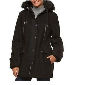 1701a021d0f Apt. 9 Hooded Wool Blend Anorak Jacket ...